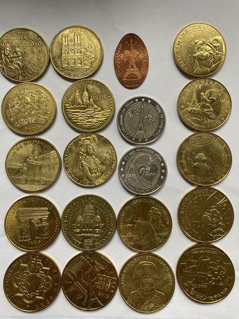 Сувенирни монети за спомен от Paris 20бр 5лв за бр, всичките за 80лв.