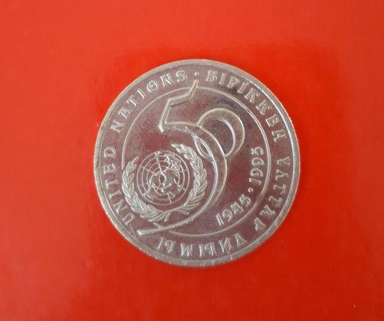Юбилейная монета в честь 50-летия ООН