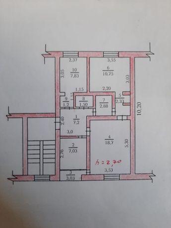 3-х комнатная квартира на против Джамбыла
