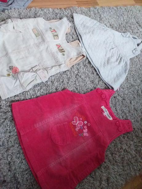 Lot 3 sarafane, velur si textil, 1 an