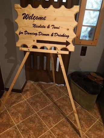 Realizăm pancarte pentru nuntă/botez/onomastice