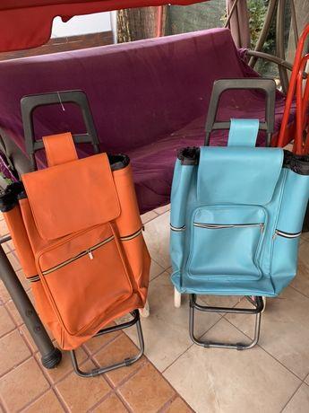 Carucioare cu geanta pe roti