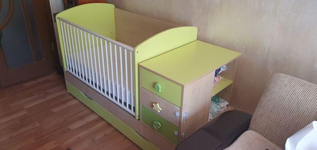 Mobila dormitor bebe patut bebelusi transformabil