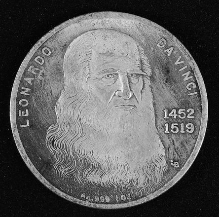 Монета Леонардо да Винчи , Leonardo da 1452 - 1519 г.