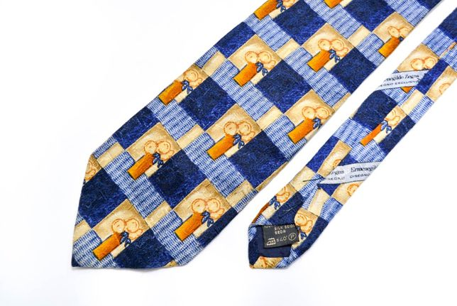 Cravata barbati Zegna Model Pictura Albastru 10 cm x 149 cm CR46
