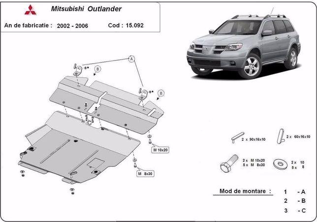 Scut metalic pentru motor Mitsubishi Outlander 2002-2006, otel 2,5mm
