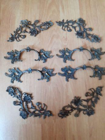 Piese de feronerie - manere si  ornamente din alamă, pt mobilier vechi