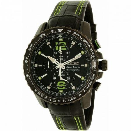 ! Ceas SEIKO Sportura Aviation Cronograf Geam Safir Nou Acte