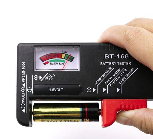 Тестер за батерии Уред за измерване AA AAA C/D 9V