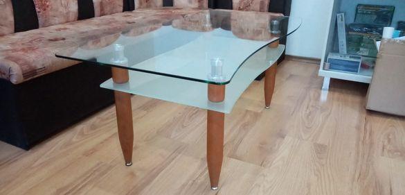 Стъклена маса за офис или за дома, 120 х 60 см, отлично състояние