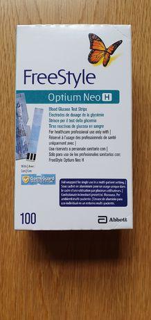 100 тест ленти Freestyle Optium (ОПТИУМ) с годност до 02/2021