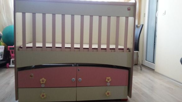 Намалявам!!! Детско легло-люлка+антиалергичен матрак