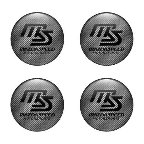 3D Силиконови стикери за капачки на джанти Mazdaspeed 40-120 мм 1