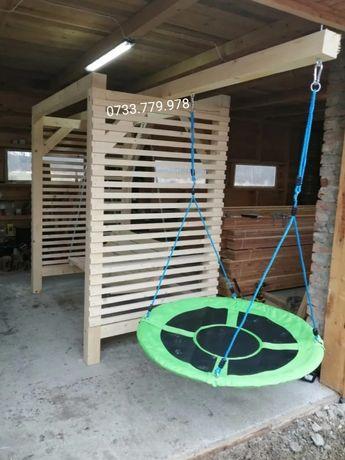 Loc joacă  leagăn  balansoar  lemn masiv