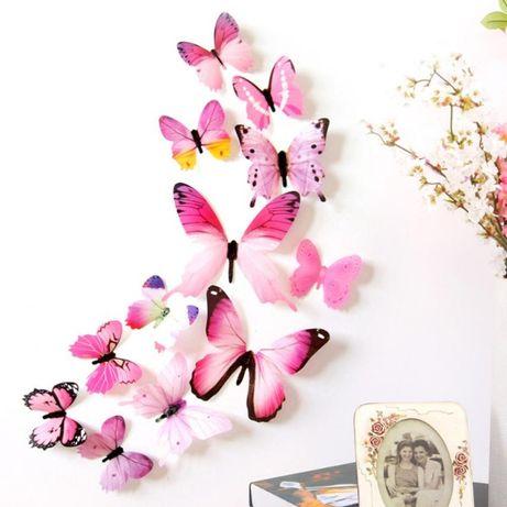 Пеперуди 3D за декорация 12 броя.