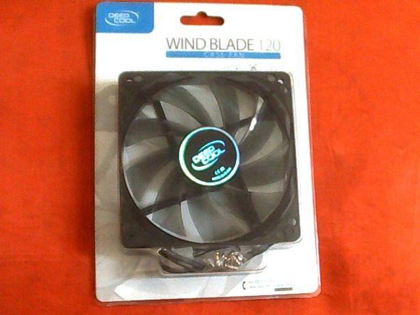 Вентилятор для корпуса с подсветкой DeepCool Wind Blade 120 Blue Led