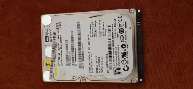 HDD 120 GB. Laptop.