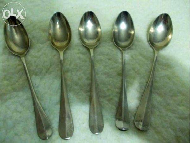 Lingurite argint placat BERNDORF (5 buc.) / Lot piese placate argint