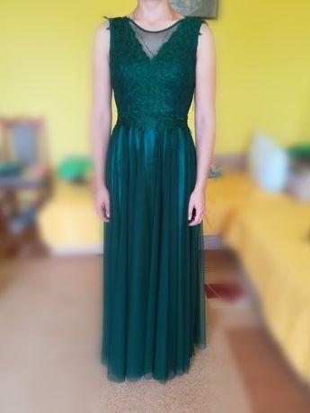 Официална зелена рокля