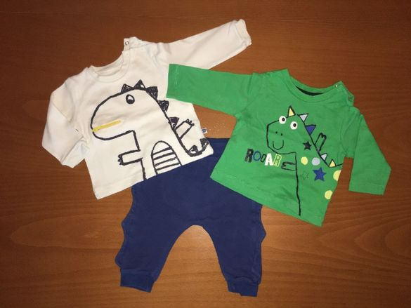 Бебешки сет Дино от две блузи и панталон