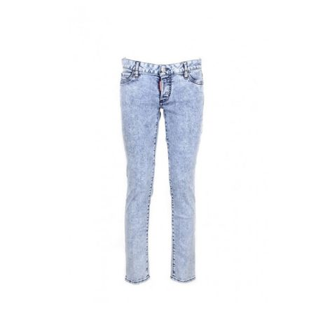 Blugi dama Dsquared2 Jennifer Slim Jeans, Twins Brother print, noi