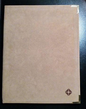 Mapa noua din piele bej pentru documente