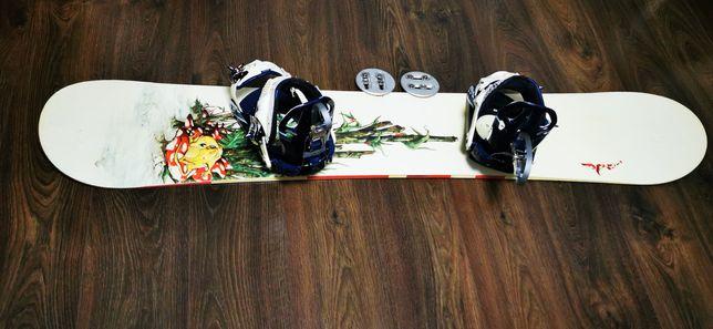 Placa snowboard APO + legaturi K2 (burton, nitro, flow, salomon, f2)