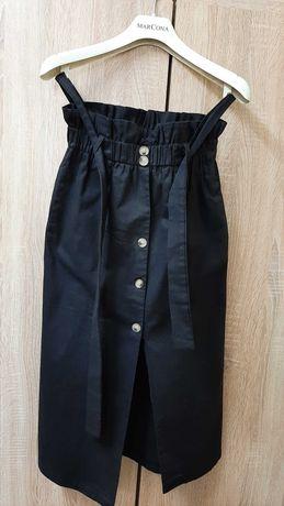 чёрная юбка,  французская длина