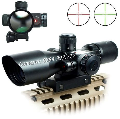 Luneta lumina laser 2,5–10X40 pusca vanatoare arma aer comprimat pisto