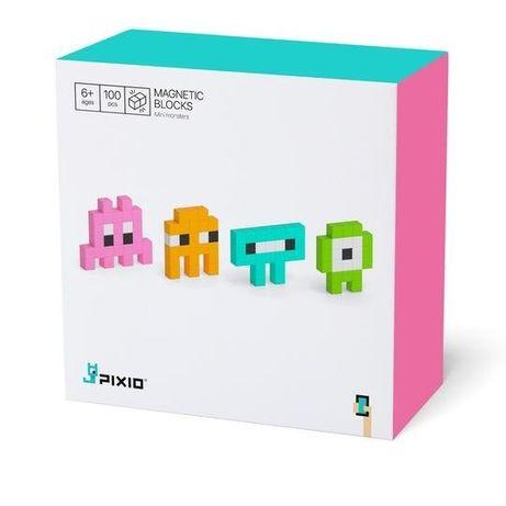 Set joc constructii magnetice PIXIO Mini Monsters, app iOS/Android