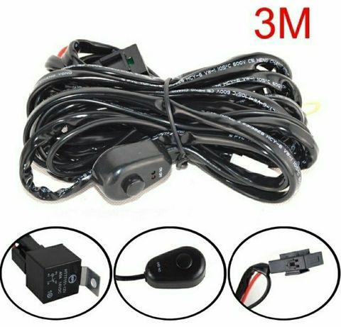 Cablaj electric instalare releu buton siguranta led proiecto cablu kit