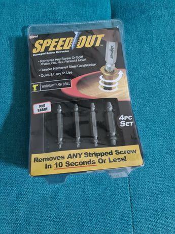 Speed Out - extractor șuruburi și holzșuruburi defecte - set 4 mărimi