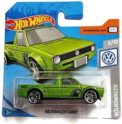 Зелена количка vw caddy hot wheels