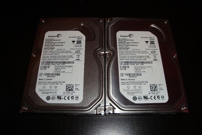 2x Raid hard disk HDD Segate Barracuda slim ST3160815AS 160GB 7200 21