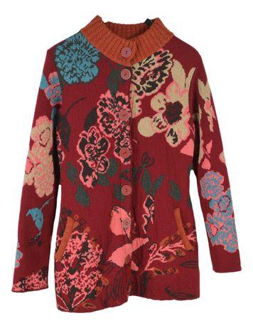Cardigan Casual Dama Kooi Marimea M Multicolor din Lana CC80