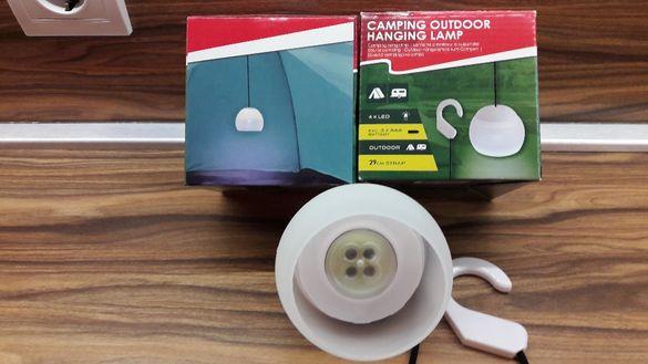 Къмпинг LED лампа с въже за закачане
