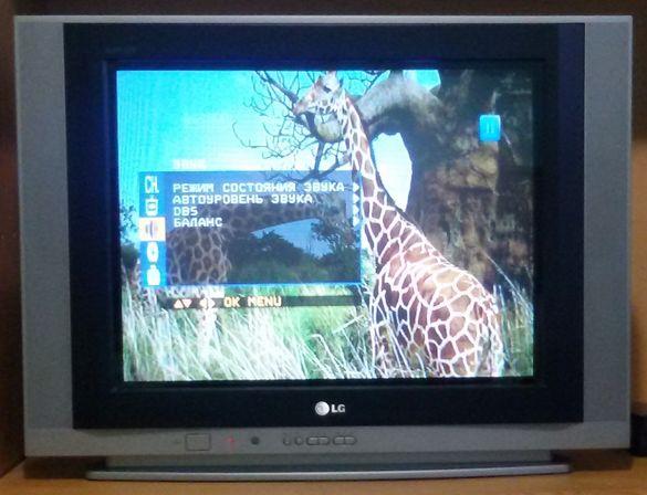 Телевизор LG, 21 инча, Super Slim, плосък кинескоп, много запазен, mad