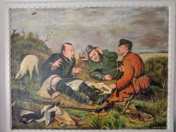 Картина 3 охотника метр на два