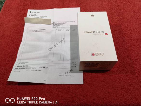 Huawei P40 Pro 256gb 8gb RAM Чисто нов 24м.гаранция от Vivacom Отключе