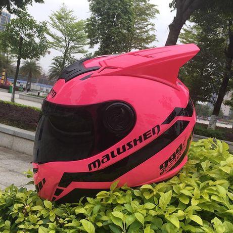 Мотошлем новый оригинал M размер мотоцикл шлем malushen с ушками