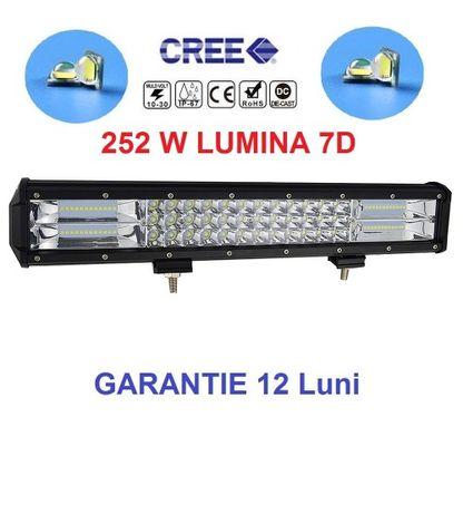 Led bar 252w, Lumina 7D, Usor de instalat, Aluminu