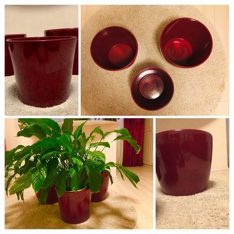 Ghiveci ceramica Premium 3 buc