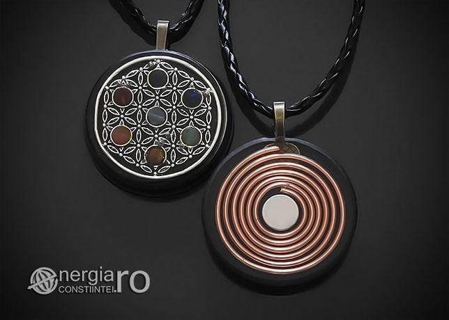 Pandantiv Orgonic Orgon Magnetic Floarea Vieții Șapte Chakre - ORG110