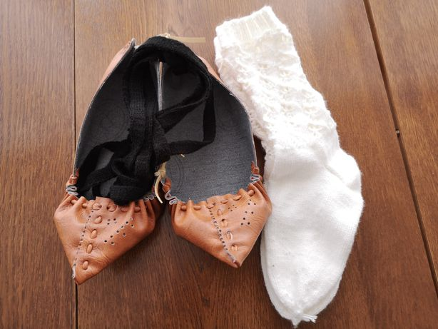 Opinci cu ciorapi crosetati!