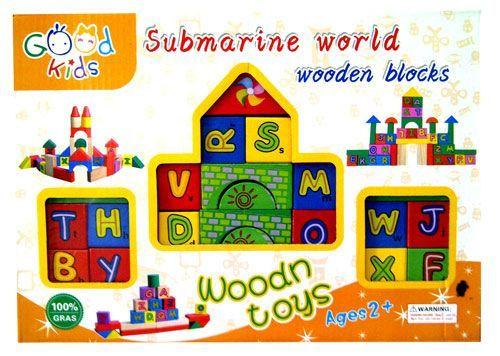 Cuburi lemn cu litere / cu animale Jucarii Montessori