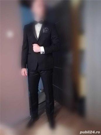 "Costum complet de ceremonie/smoking negru ""Tatal si fiul"""