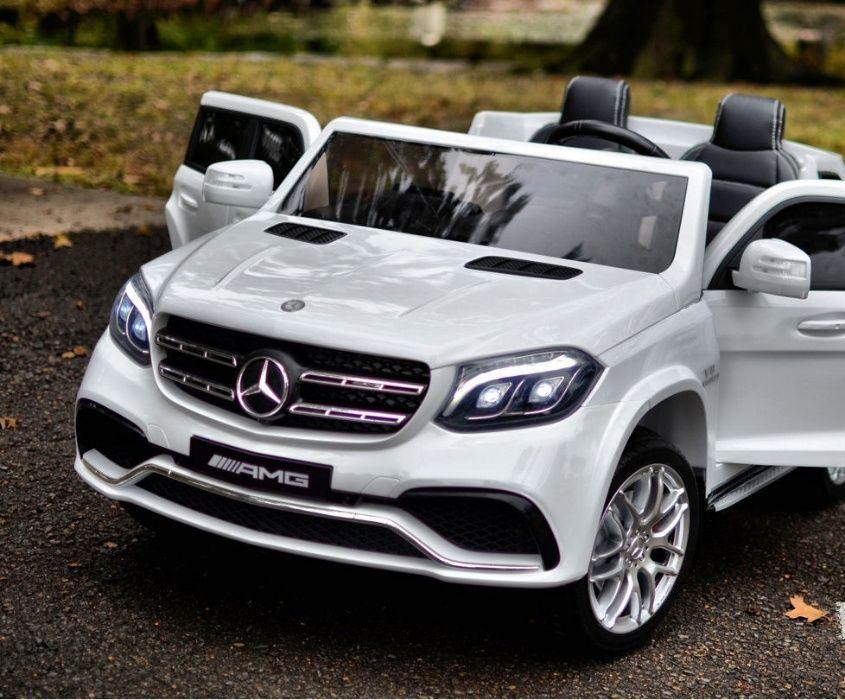 Masinuta Electrica pentru 2 copii Mercedes GLS63 AMG 4x4 #Alb Tulcea - imagine 1