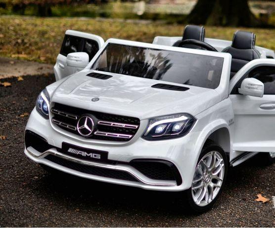 Masinuta Electrica pentru 2 copii Mercedes GLS63 AMG 4x4 #Alb