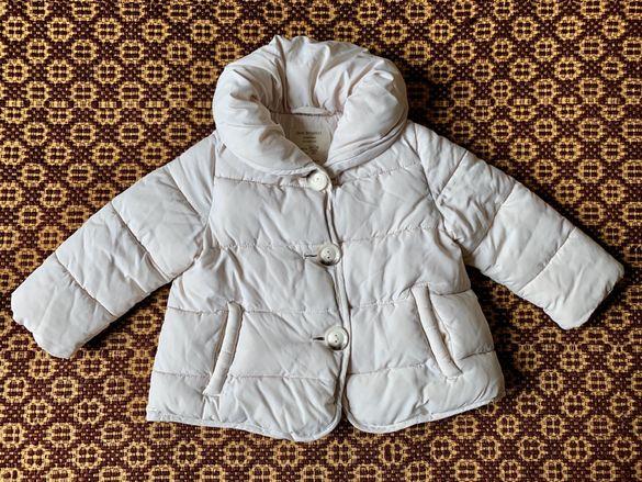 НАМАЛЕНИЕ! Топло детско зимно яке с пух Zara 12/18 месеца, 86см