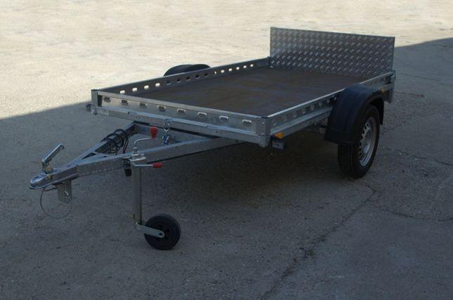 Remorca transport ATV 750 kg cu dimensiune 240x125 cm -NR ROSU Pe loc!